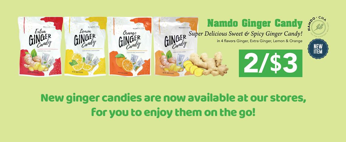 Namdo Cha Ginger Candies